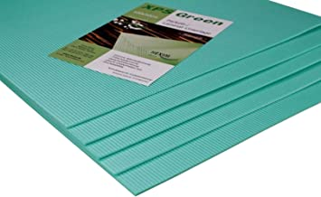 HEXIM Trittschalldämmung - exzellente Schall- und Wärmedämmung für Parkett- und Laminatböden - XPS Green, 100x50cm pro Pla...