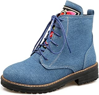JOJONUNU Women Lace Up Martin Boots