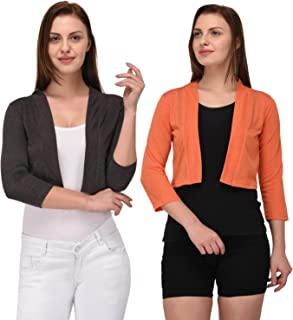Espresso Women's Open Cardigan Shrug - Pack of 2