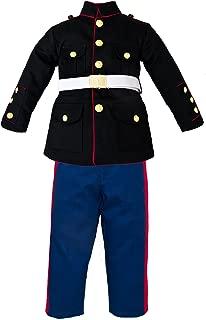 Trooper Clothing Boy's 3 Pc Marine Corp Dress Multi-color Uniform Set Medium (10-12)
