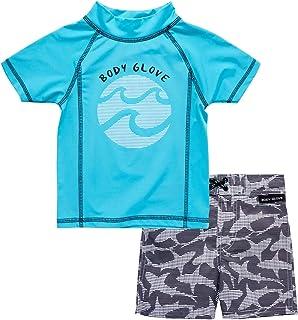 Baby Boys 2-Piece UPF 50+ Rash Guard Swimsuit Set...