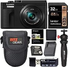 Panasonic Lumix DC-ZS80 4K Wi-Fi Digital Camera (Black) with 32GB Card + Battery + Charger + Case + Card Reader + Tripod +...
