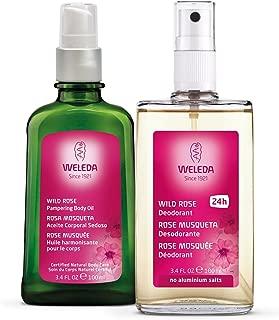 Weleda Skin Pampering 2-Piece Set: Wild Rose Deodorant and Body Oil