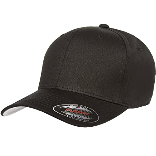 fe02fd226e3 Flexfit Yupoong Cotton Twill Fitted Cap