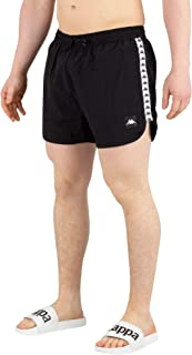 Authentic Agius Mens Swim Shorts in Red/White/Black