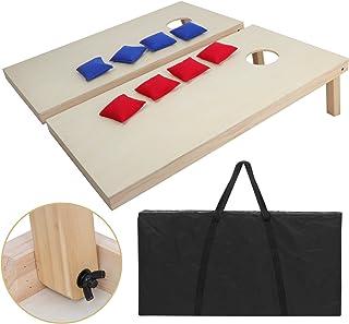ZENY Portable Wood Cornhole Set Bean Bag Toss Game Set Regulation Size 4`x2` Game Boards & 8 Corn Hole Bean Bags Outdoor Lawn Yard Games