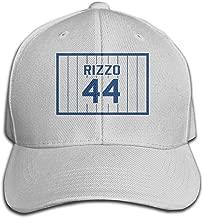 Top Level Casquette Anthony-Rizzo-Number #44 Cap Men Women - Classic Plain Hat Gray