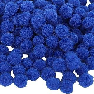 Pompons para artesanato e hobby, 500 peças, 18 mm (0,7 pol.) - Azul
