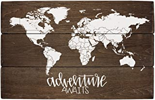Elegant Signs Adventure Nursery Rustic Decor World Map Adventure Awaits