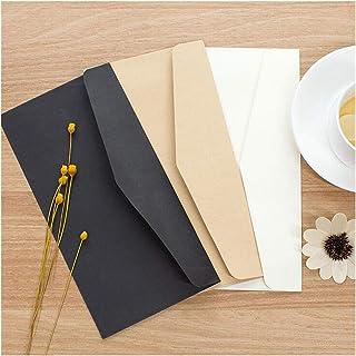 20pcs/lot Formal Business Envelope Black White Craft Paper Envelopes for Card Scrapbooking Supply Pure Color Paper Money B...