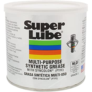 Super Lube 41160 Synthetic Grease (NLGI 2), 14.1 oz Canister, Translucent White