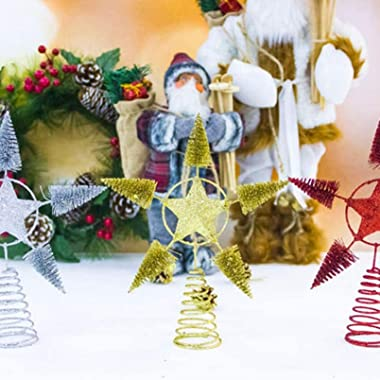 DIELUNY 1 Article Topper d'arbre de Noël étoile Topper étoile de Noël pour Ornement d'arbre de Noël Pendentif de Noël