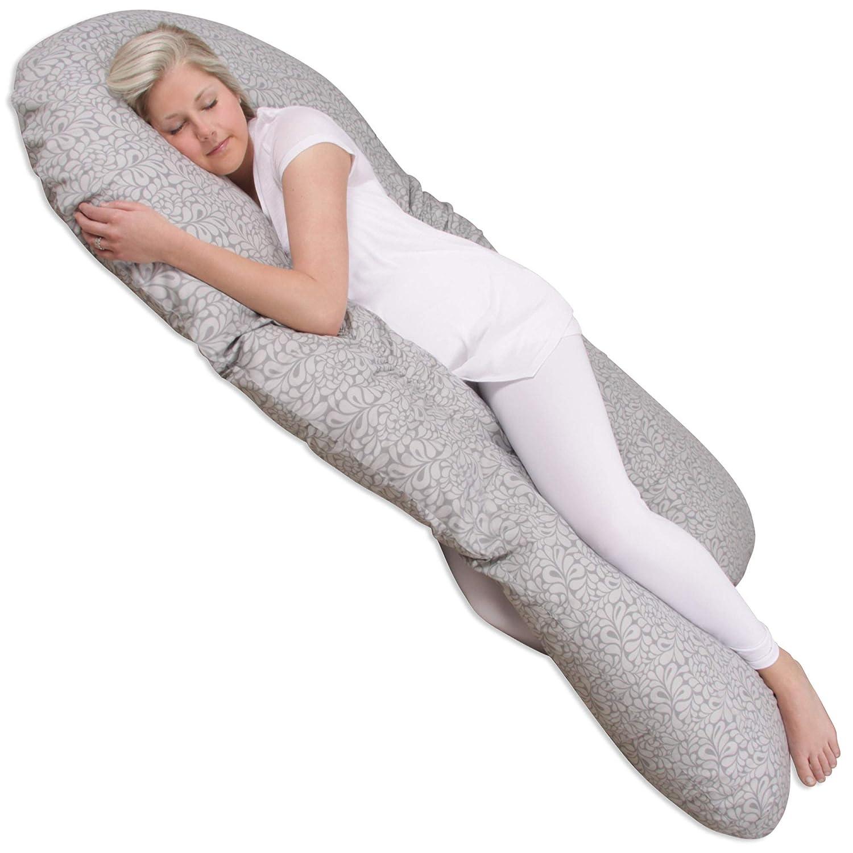 Leachco Back 'N Belly Bunchie Pregnancy/Maternity Body Pillow, Splash Gray