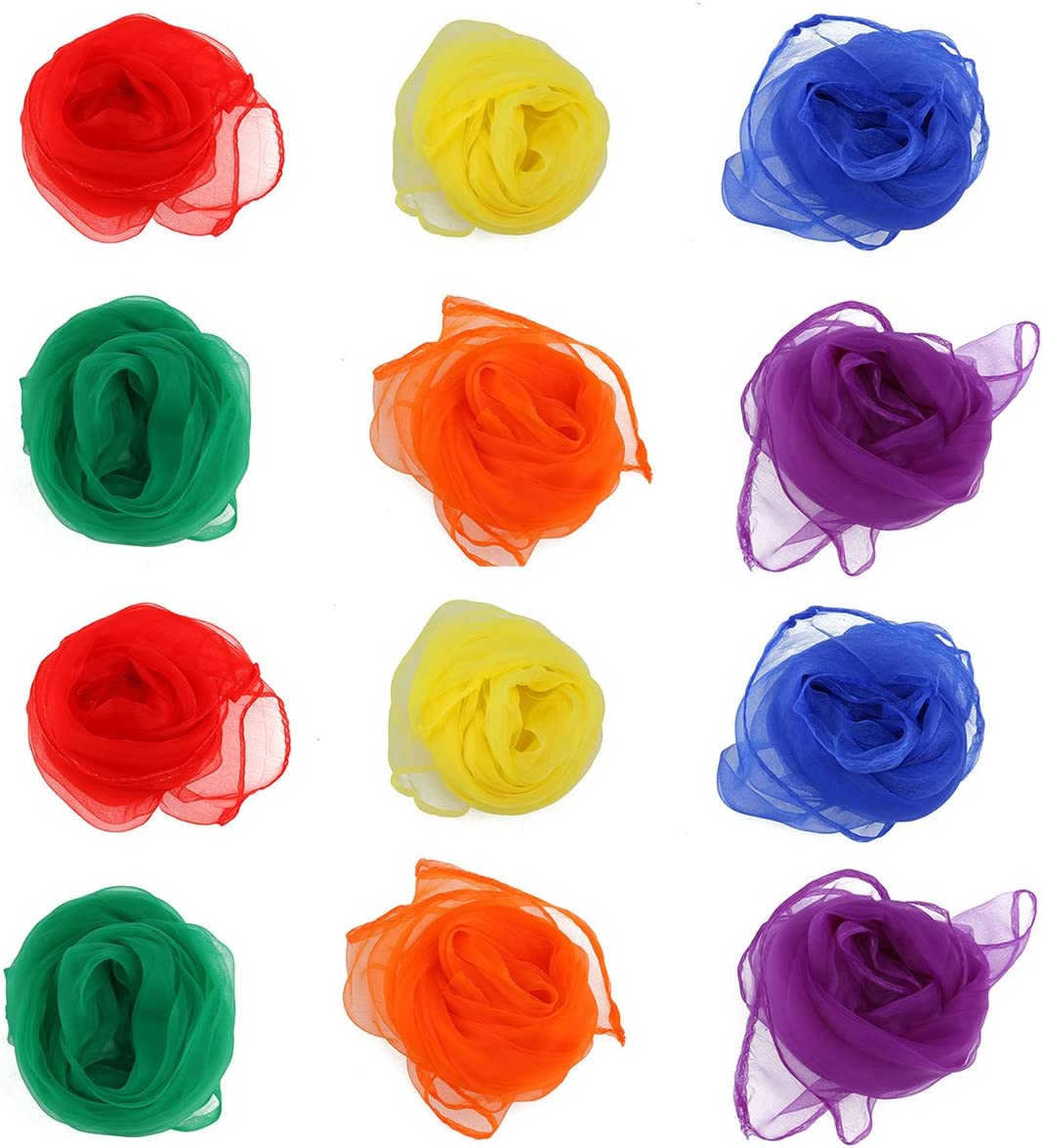 NUOLUX At the price of surprise Juggling Dance Scarves Movement Square of Hemmed 12 Cheap mail order specialty store Set