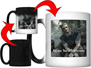 Hey, You You're Finally Awake (Ralof of Skyrim) Magic Color Changing Coffee Mug