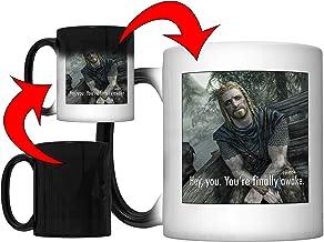 Hey, You You're Finally Awake (Ralof of Skyrim) Magic Color Changing Coffee Mug