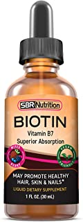 Biotin Liquid Drops (Mixed Berry) Max Absorption Biotin Liquid Drops, 5000mcg of Biotin Per Serving, 60 Serving, No Artifi...