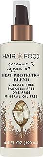 Hair Food Coconut & Argan Oil Heat Protectant Spray, Dye Free, 6.4 Fl Oz