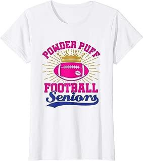 Womens Powder Puff Football Seniors High School College T-Shirt