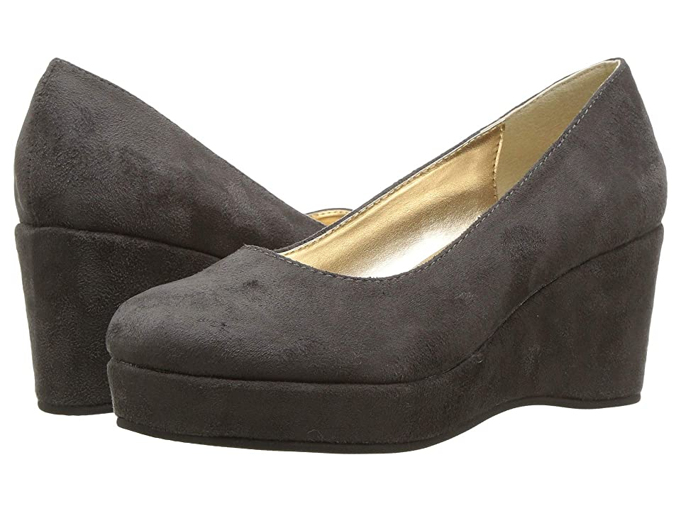 Amiana 6-A0882 (Little Kid/Big Kid/Adult) (Grey Suede Fabric) Girls Shoes
