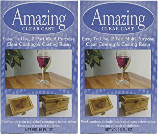 2 Pack - Alumilite Amazing Clear Cast Resin 16 Ounce Boxes (8 Ounce Part A and 8 Ounce Part B Per Box)