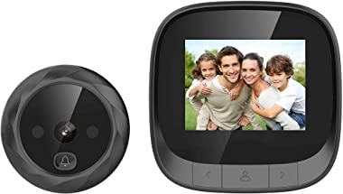 digitharbor Video Door Scope Viewer Build-in cyclic Storage Digital Peephole viewer Door Camera Outdoor Security Cam Door Ope