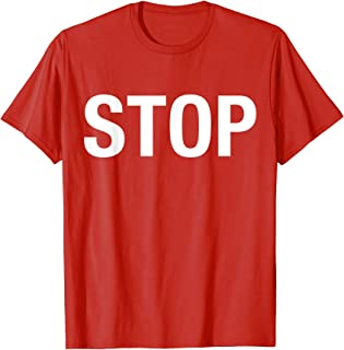 Halloween Costume Stop Sign Funny Lazy Simple T-Shirt