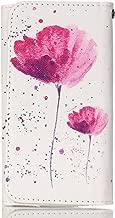 LG G Vista Case,[Pink Lotus] Style Universal Smartphone Flip Wallet Clutch Bag Wristlet Carrying Leather Case for LG G Vista VS880 Verizon