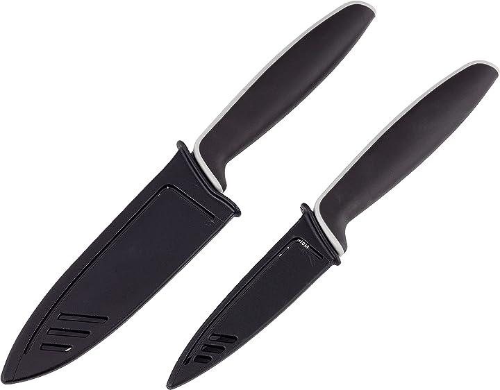 set di 2 coltelli in acciaio inossidabile colore nero wmf 1879086100