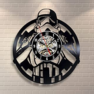 Wood Crafty Shop Star Wars Stormtroopers Art Clock Vinyl Record Wall Clock Gift for Him and Her Unique Wall Decor The Best Gift Idea for Any Event Birthday Gift, Wedding Gift