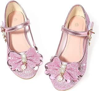 Flower Girls Dress Wedding Party Bridesmaids Heel Mary Jane Princess Shoes