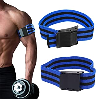 VAVOLO 2 Pack Occlusion Bands, Blood Flow Restriction Training Bands, Fast Muscle Growth Without Lifting Heavy Weights, Ex...