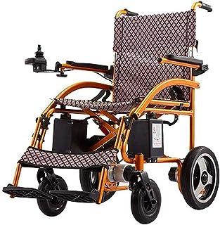 WJSWD Sillas de Ruedas eléctricas para Adultos Nueva Ligero Plegable portátil Plegable Remoto Silla de Ruedas motorizadas eléctricas con reposapiés y Baterías para los Ancianos y discapacitados