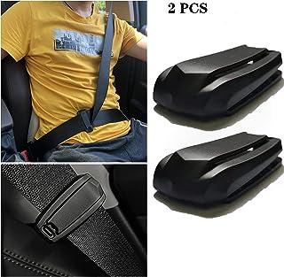 حزام الأمان قابل للتعديل، مشبك حزام أمان السيارة، مشبك حزام أمان عالمي للكتف وحزام الرقبة، مشبك إقفال المثبت، قطعتان