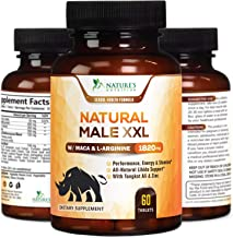 Natural Male XXL Capsules Natural Stamina, Strength & Mood - Extra Strength Energy Support - Made in USA - Prime Performan...