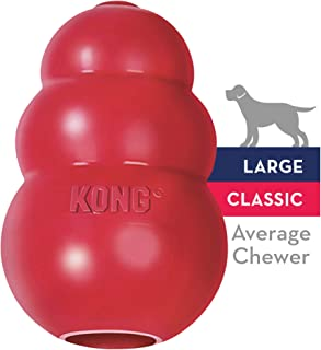 KONG Classic Dog Toy, Durable Natural Rubber- Fun to Chew, Chase & Fetch- For Large Dogs