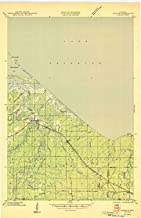 YellowMaps Odanah WI topo map, 1:48000 Scale, 15 X 15 Minute, Historical, 1945, 27.13 x 17.6 in