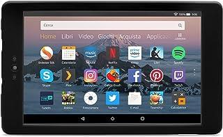 Nupro Custodia resistente agli urti per tablet Fire HD 8, colore: nero