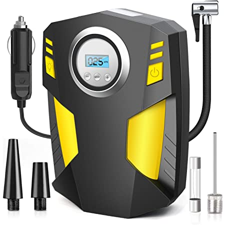 Airsnigi Auto Kompressor 150 Psi Tragbare Auto Luftpumpe Reifen Inflator Digitale Reifenpumpe Kompressor 12v Für Autoreifen Für Auto Fahrrad Motorrad Ball Auto