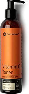 Eve Hansen Vitamin C Toner for face | 8 oz Hydrating Face Mist Facial Toner, Setting Spray, Skin Toner, Pore Minimizer and Dark Spot Corrector for Face | Aloe, Orange, Lemon and Tea Tree Face Toner