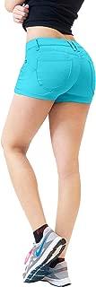 HyBrid & Company Womens 3 inch Reg/5 inch Plus Inseam Butt Lifting Stretch Twill/Denim Shorts