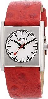 Mondaine - A658.30320.26SBC - Reloj de Mujer de Cuarzo (Suizo), Correa de Piel Color Rojo