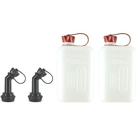 Fuelfriend Big Clear Max 2 0 Liter Klein Benzinkanister Mini Reservekanister Mit Un Zulassung Verschließbares Auslaufrohr Im Doppelpack Auto