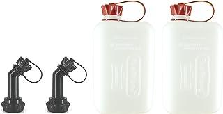 FuelFriend®-Big Clear MAX. 2.0 litros + caño bloqueable - Bidón con aprobación de la Onu - 2 Piezas por un Precio Especial