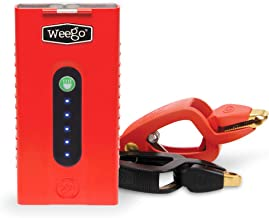 2100 Peak 400 Cranking Amps High Performance Lithium Ion Power Pack Quick Charges Phones 500 Lumen LED Flashlight Water Resistant USA Designed and Engineered WEEGO 44 Jump Starter 2018 MODEL