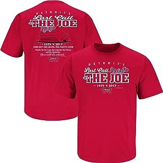 Detroit Hockey Fans. Last Call at The Joe Red T-Shirt (Sm-5X)
