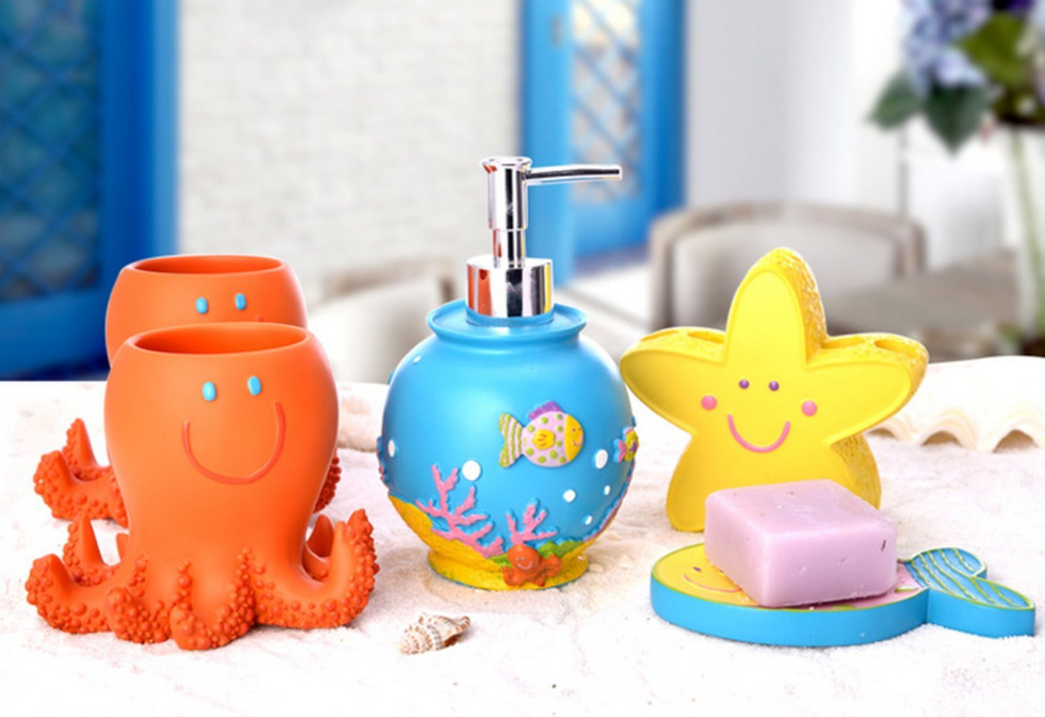 bathroom fish decor amazon com rh amazon com tropical fish bathroom sets tropical fish bathroom sets