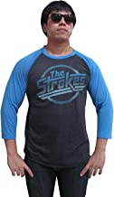 BUNNY BRAND Men's The Strokes Magna Logo Music Raglan T-Shirt Gray