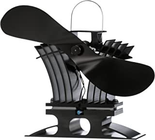 Caframo Ecofan BelAir, Heat Powered Low Temp Stove Fan, Black Blade
