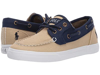 Polo Ralph Lauren Kids Bridgeport (Little Kid) (Khaki/Navy Heavy Twill/Navy Pony) Boy